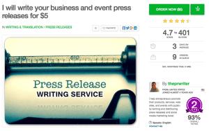 The PR Writer $5 Press Release